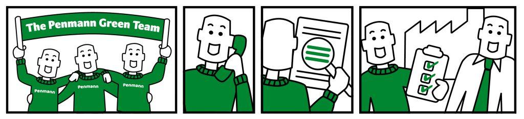 Penmann - Green team banner