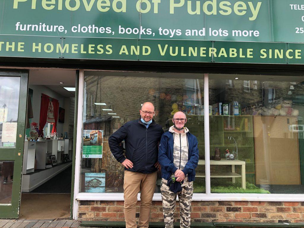 Penmann - John Kirwin volunteering at Preloved Pudsey